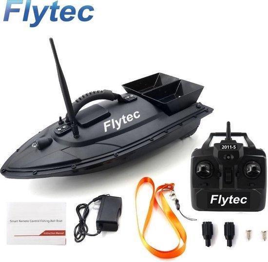 Flytec vis voerboot - 2 voerbakken - Met afstandsbesturing - tot 500M