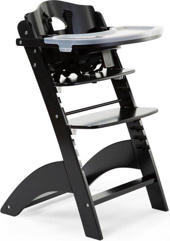 Product: Lambda 3 Baby Kinderstoel + Eettablet - Hout - Zwart, van het merk Childhome