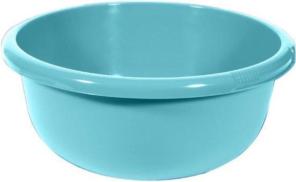 Waskom Rond 10.5l Molokai Blauw 38x38xh16cm ( set van 5) En Yourkitchen E-kookboek - Heerlijke Smulrecepten