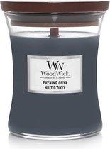Woodwick Hourglass Medium Geurkaars - Evening Onyx