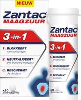Zantac Maagzuur 3-in-1 – Bij brandend maagzuur en zure oprispingen - 20 kauwtabletten