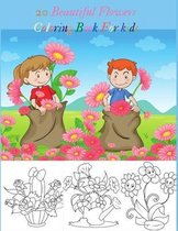 20 Beautiful Flowers Coloring Book For kids