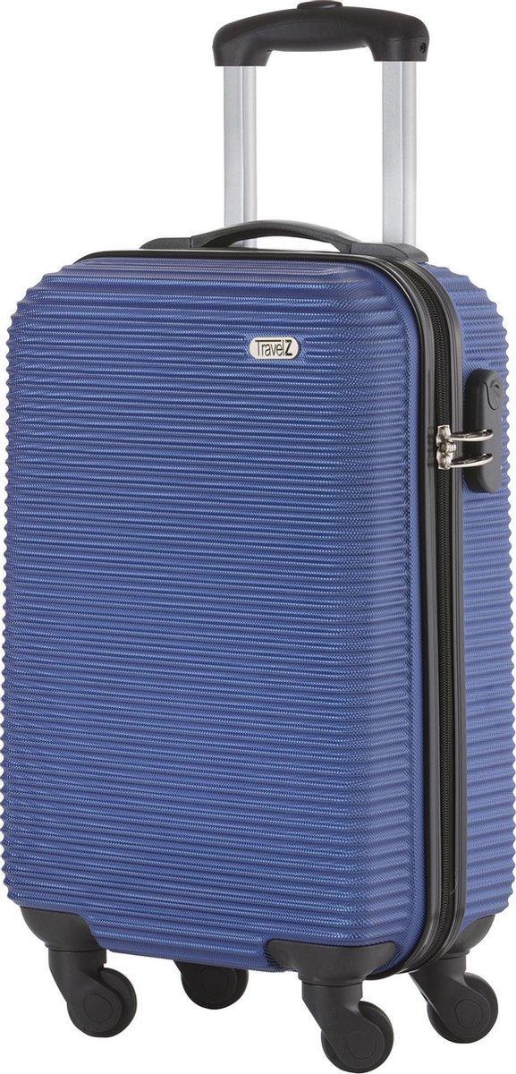 TravelZ Horizon Handbagagekoffer - 54cm Handbagage Trolley met gevoerde binnenkant – Blauw