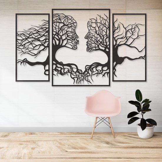 Bol Com Wanddecoratie Muurdecoratie Gezichten Uit Takken En Bomen 3 Delen Groot Zwart