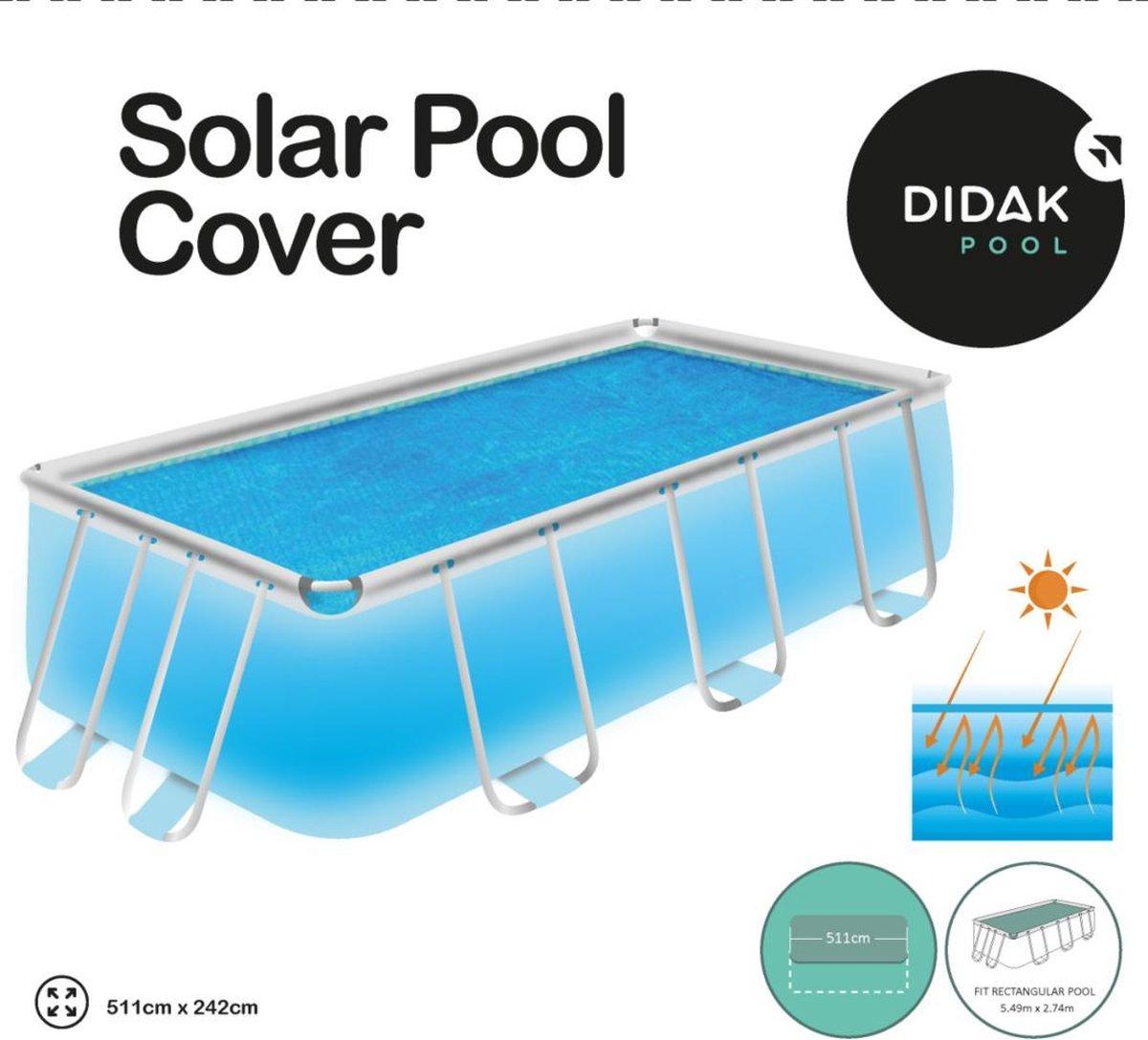 Afdekzeil Solar Zwembad Rectangular 549 X 274 X 122cm Voor Bestway 56465
