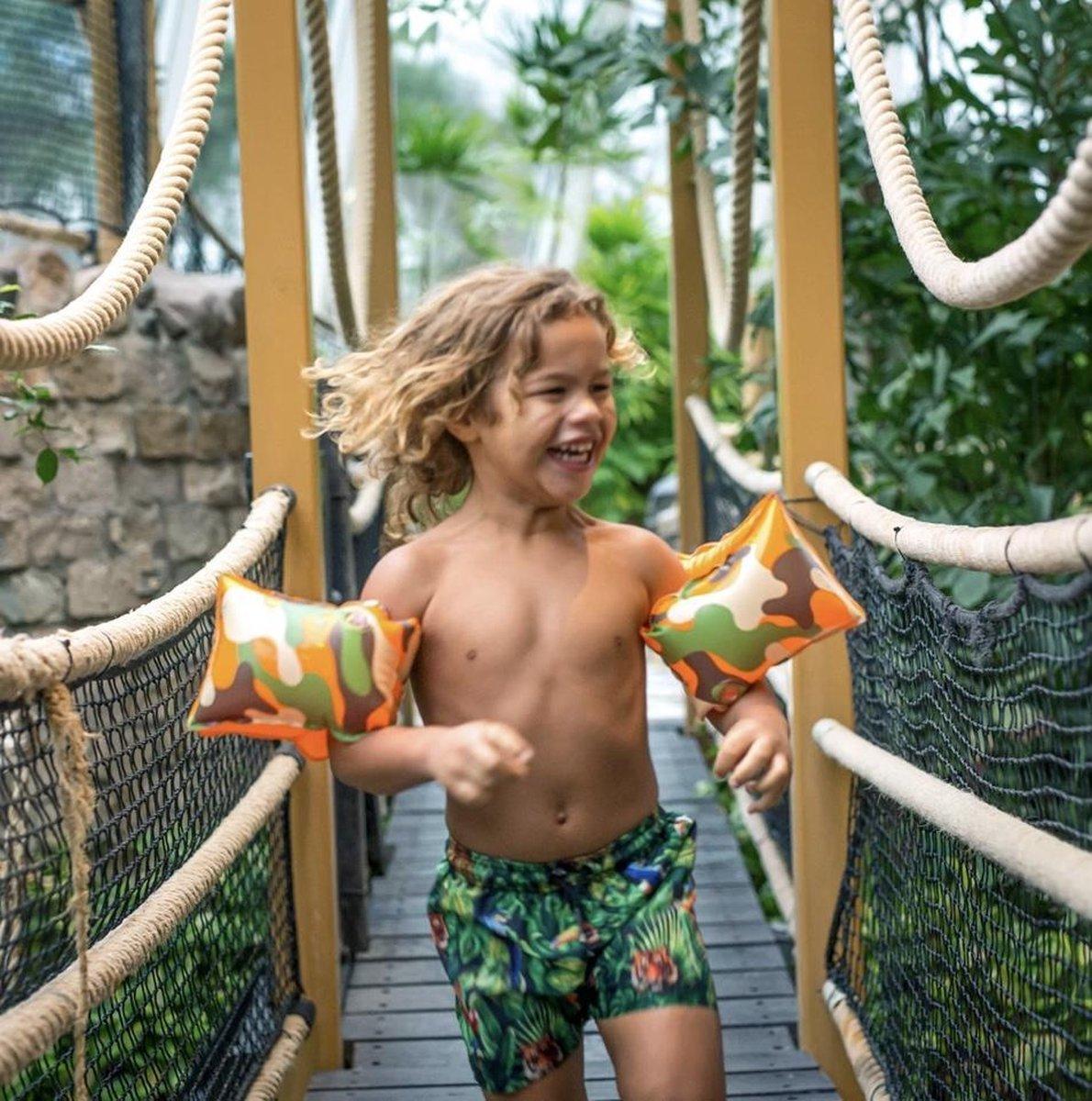 Swim Essentials zwembandjes camouflage- camouflageprint - 2-6 jaar - collectie 2021 - zwembandjes - zwemmen - zomer - zwembad - baby - dreumes - peuter - kleuter - kids - jongen - camouflage - print