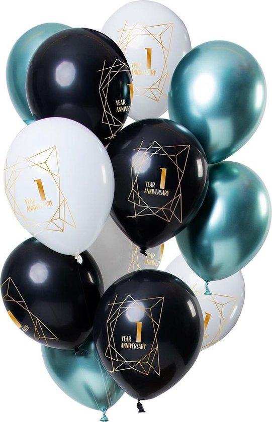 Ballonnen 1 Jaar Jubileum 30cm 12st