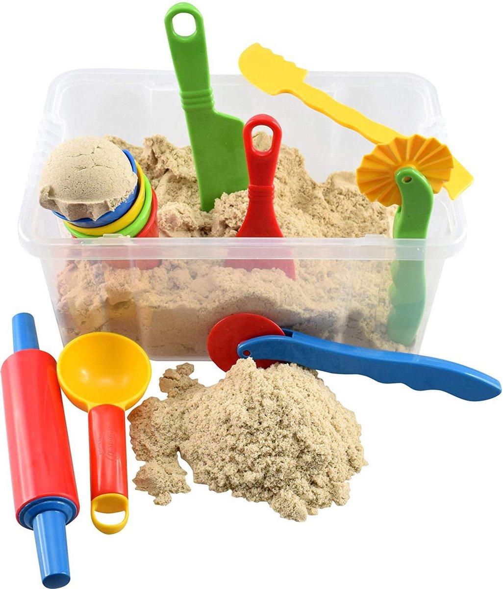 Kinetic Sand WABA Fun set van 2,5 kg in schatkist 13 stuks. speelzand kinderen