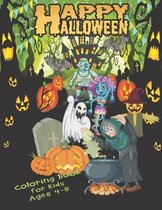 Happy Halloween Coloring Book For Kids Ages 4-8: A Spooky Halloween Coloring Book For Creative Children - 44 Halloween Coloring Pages High Quality for Kids