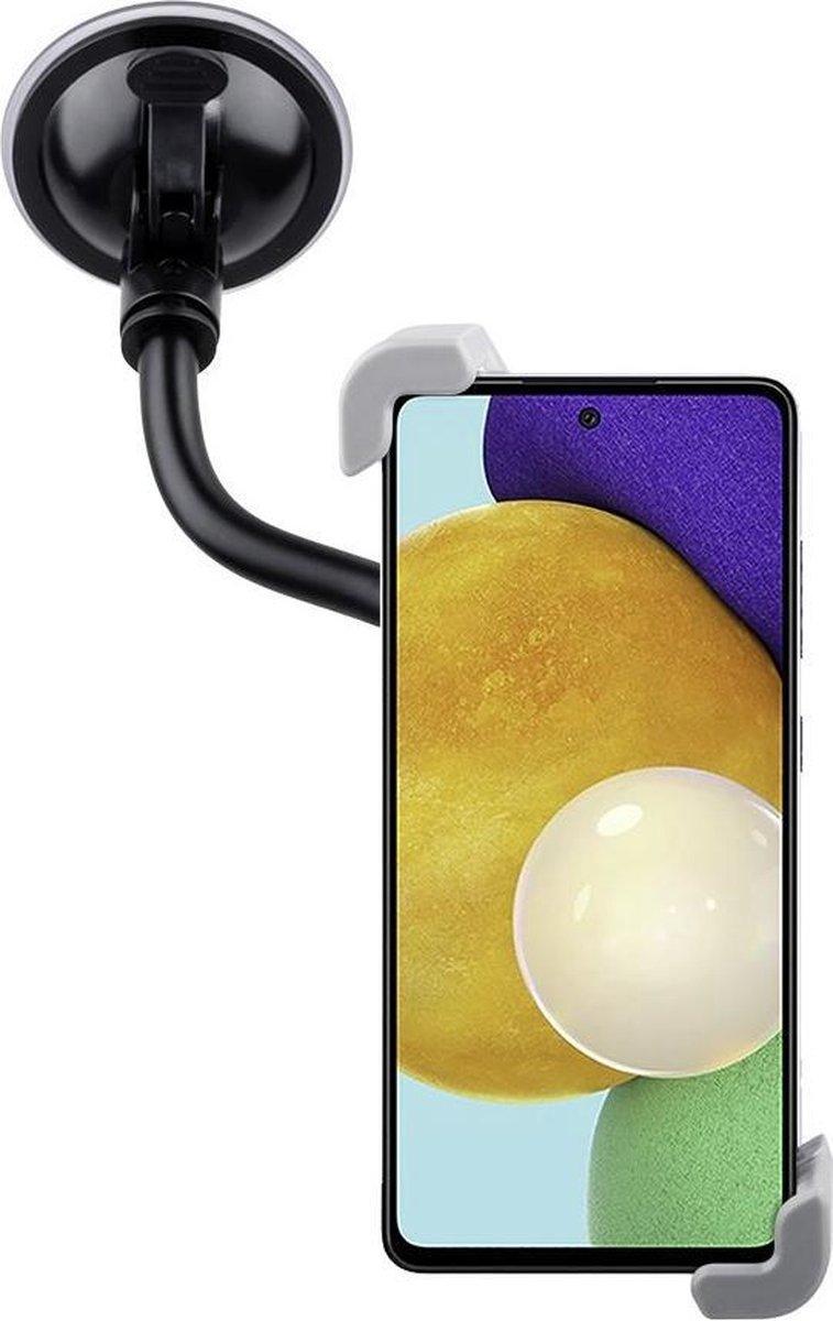 Shop4 – Samsung Galaxy A52 Autohouder Diagonale Klem Autohouder Zwart