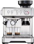 Solis Grind & Infuse Compact 1018 Koffiemachine met Bonen - RVS Pistonmachine Koffie - Grijs