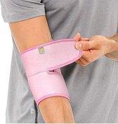 Bracoo ES10 Elleboogbandage - verstelbare neopreen Elleboogbrace - rechter/linker elleboog - één stuk - roze