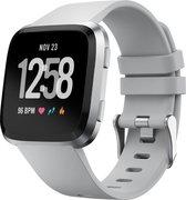 YONO Fitbit Versa 2 Bandje - Siliconen - Grijs - Large