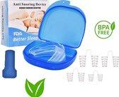 Premium Anti snurk set - Anti snurkbeugel / bitje - Anti snurk clip - Snurken - Slaap apneu - Opbergcase - Betere nachtrust - BPA-free