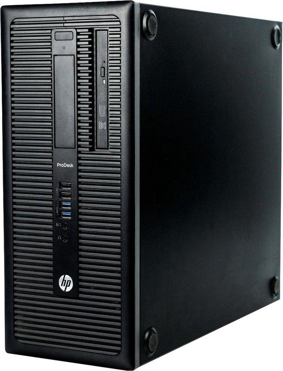 Budget Game PC HP ProDesk 600 G1 refurbished door PCkoophulp, Intel Core i5-4670 3.4GHz, 8GB, 240GB SSD, 500GB HDD, Videokaart AMD Radeon RX560 4GB DP, HDMI, DVI, Windows 10 Pro (Geschikt voor Fortnite, Minecraft, PubG, CSGO)