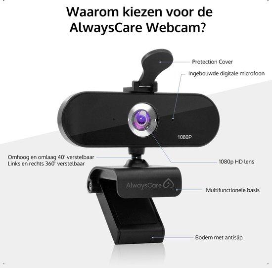 Webcam Voor PC Met Microfoon Inclusief Tripod En Webcam Cover