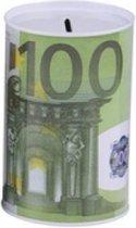 Spaarpot 100 euro biljet | Geldspaarpot | Euro spaarpot volwassenen| spaarpot jongen | spaarpot meisje | spaarpot kinderen |spaarpot blik | XL formaat ø15 x 22 cm | per stuk