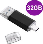 USB-C USB 3.0 Stick - 2 in 1 - Geheugen stick - Flash Drive - 32GB - Voor USB type C devices - Memory Stick - Opslag