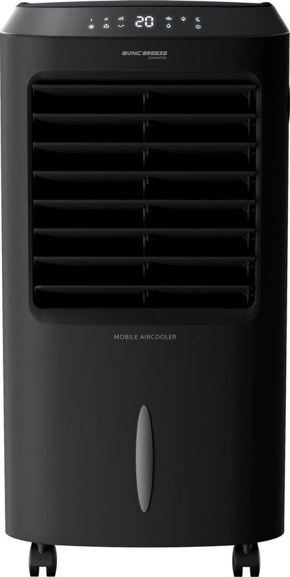 JAP Edmonton - Cooler zonder afvoer - Luchtkoeler - Aircooler met water - Afstandsbediening - Ventilator - Mat zwart