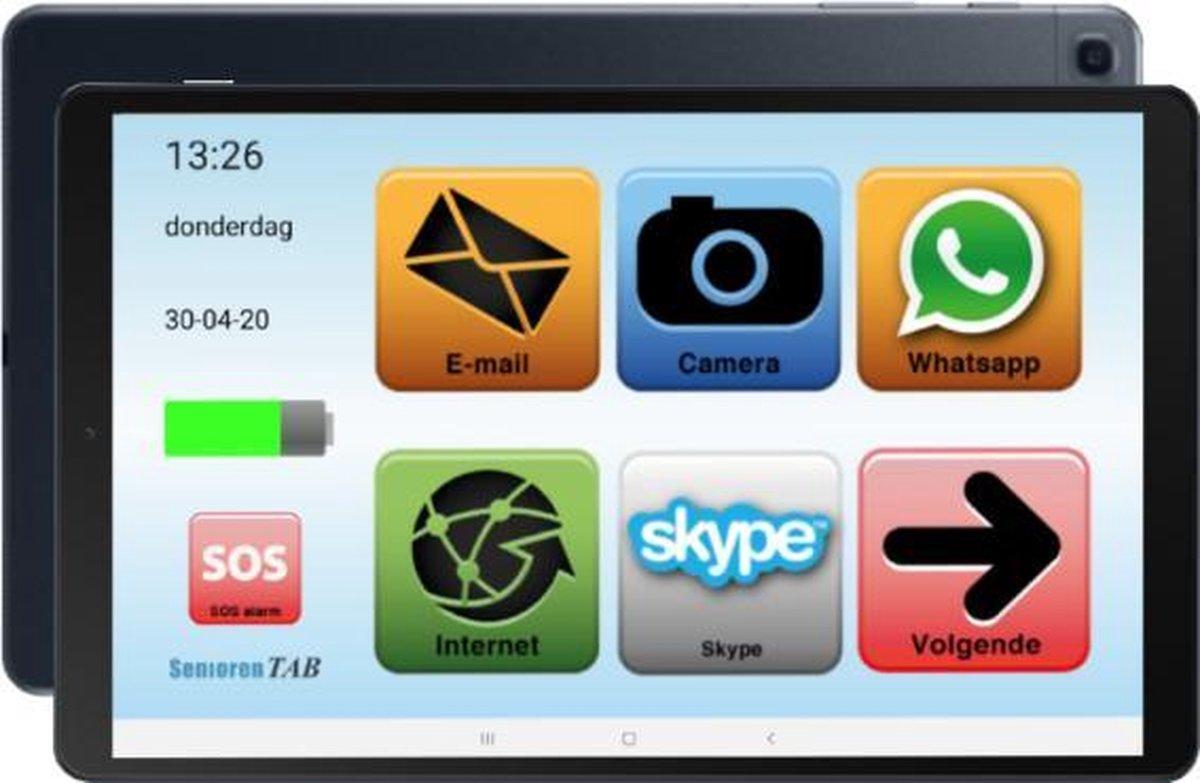 Senioren Tablet 32GB Wifi / 4G Vlaamse Versie (De officiële SeniorenTab op basis van Samsung Tablet)