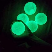 Fidget Sticky balls - globbles balls - 5 stuks groene sticky wall balls