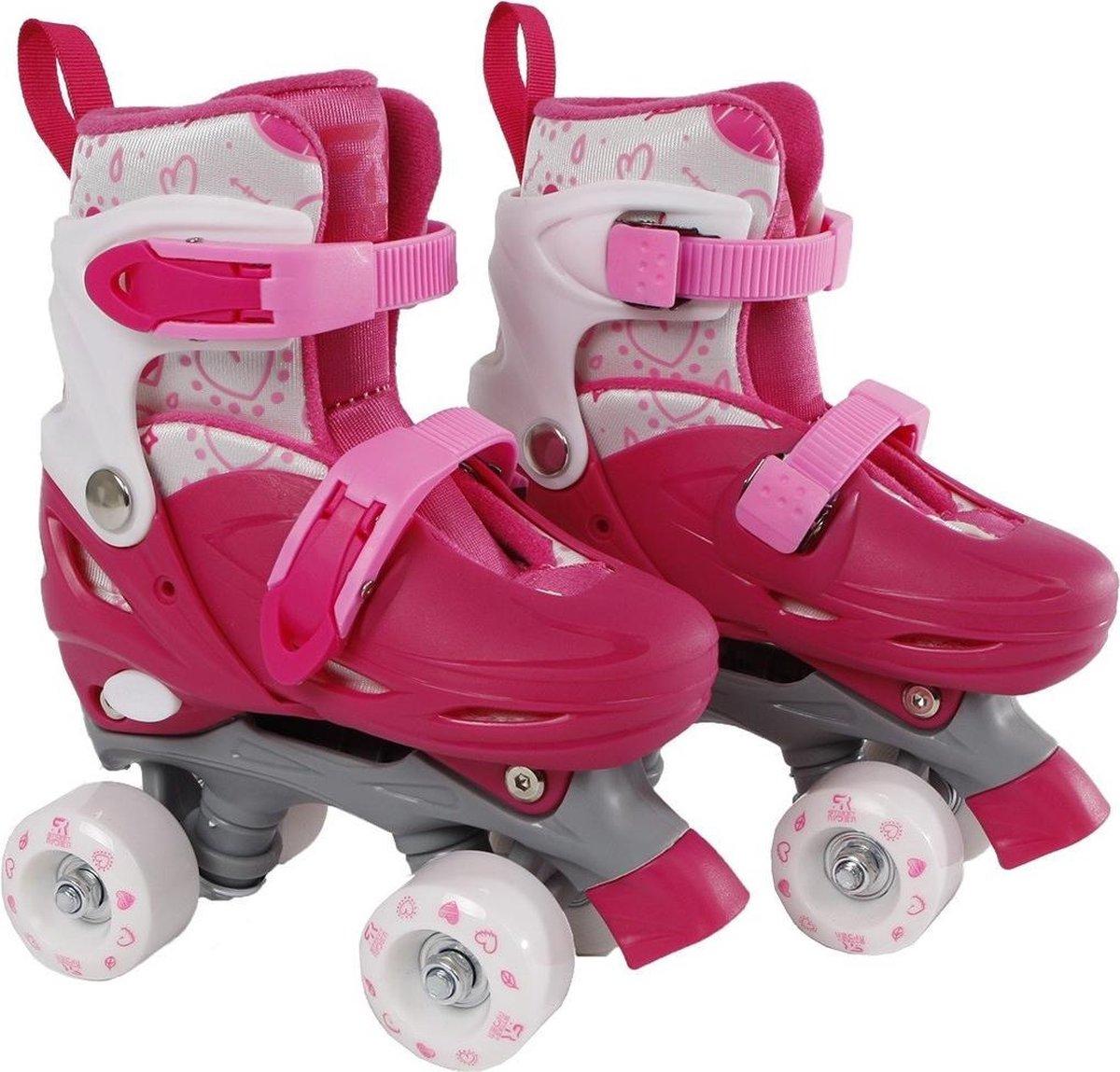 Rolschaatsen Street Rider roze/grijs maat 31-34