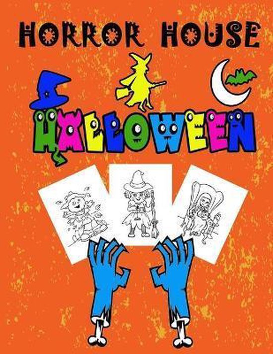 horror house: Halloween: Coloring Book for Kids