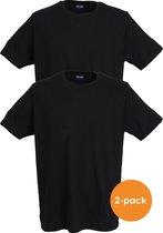 Ceceba heren T-shirts regular fit (2-Pack) - O-hals - zwart -  Maat: 3XL