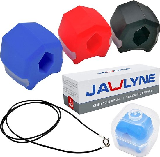 BlackMax JawTrainer- Kaaklijn trainer - Jaw trainer - Set van 3 - Kaaklijn - Kaak trainer - Jawline