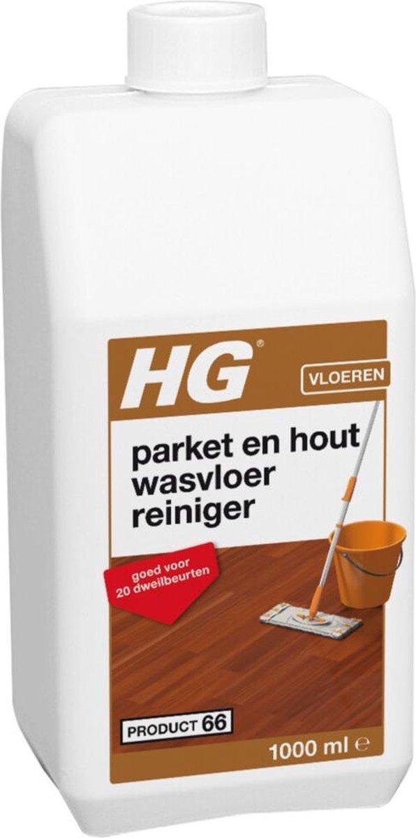 HG parket & hout wasvloer reiniger - 1L - goed voor 20 dweilbeurten
