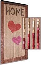 Vliegengordijn/deurgordijn houten kralen - Home 90x200cm