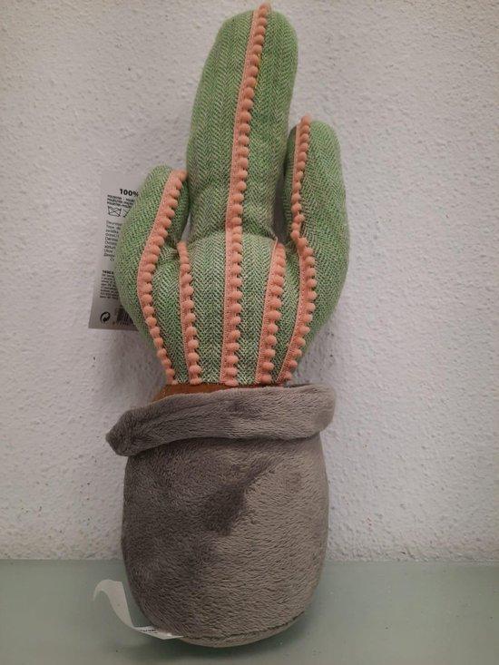 1x Deurstopper cactus grijs/groen 37 cm - Huishouden - Woonaccessoires/benodigdheden - Deurstoppers/raamstoppers cactussen