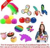 Fidget Toys pakket - 2 delig - onder de 15 euro - Pop It - Squishy - Stretch - Kubus - 2 verschillende artikelen