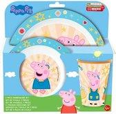Peppa Pig servies - 3 delig ontbijtset