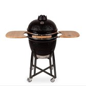 "Patton Kamado Grill Houtskoolbarbecue - 21"" - Grilloppervlak Ø 47 cm - Met Smart Thermometer - Zwart"