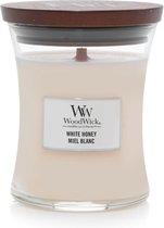 Woodwick Hourglass Medium Geurkaars - White Honey