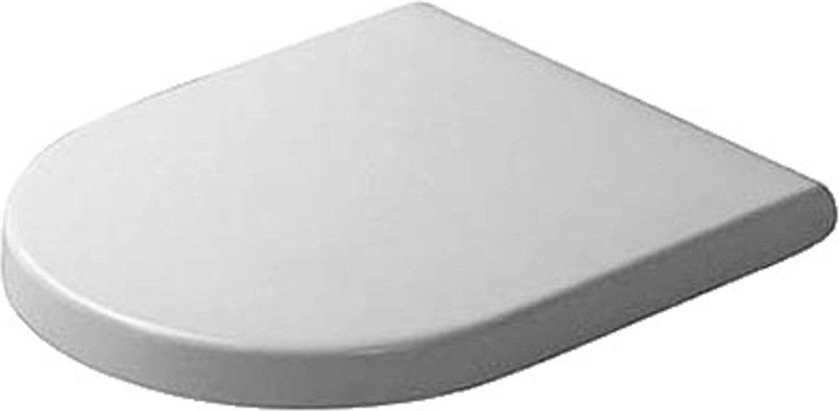 Duravit Starck 3 WC-zitting 43.1x37x4.3cm met softclose met quickrelease Kunststof wit Glanzend