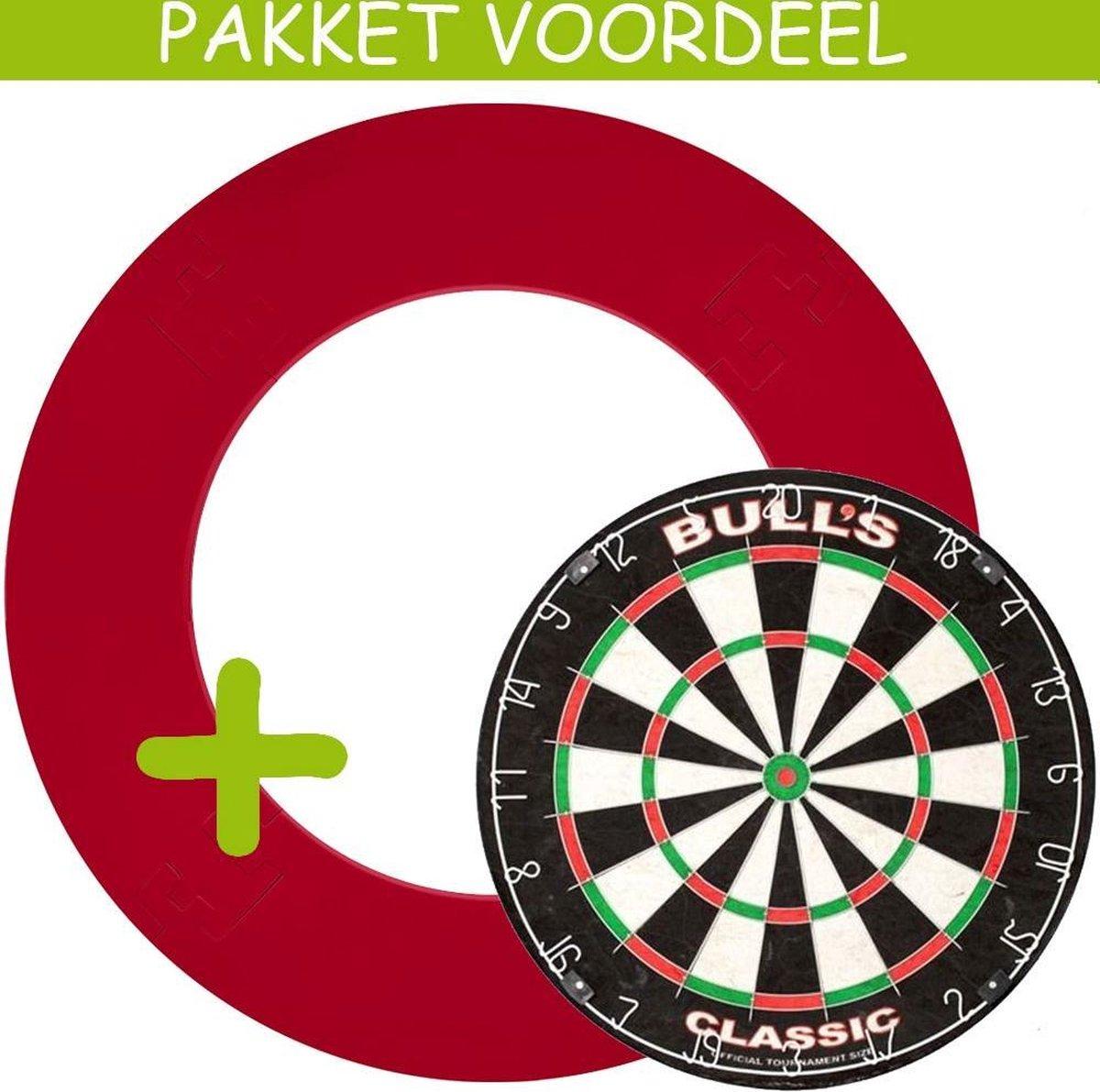Dartbord Surround VoordeelPakket - Bulls Classic - EVA Surround-- (Rood)