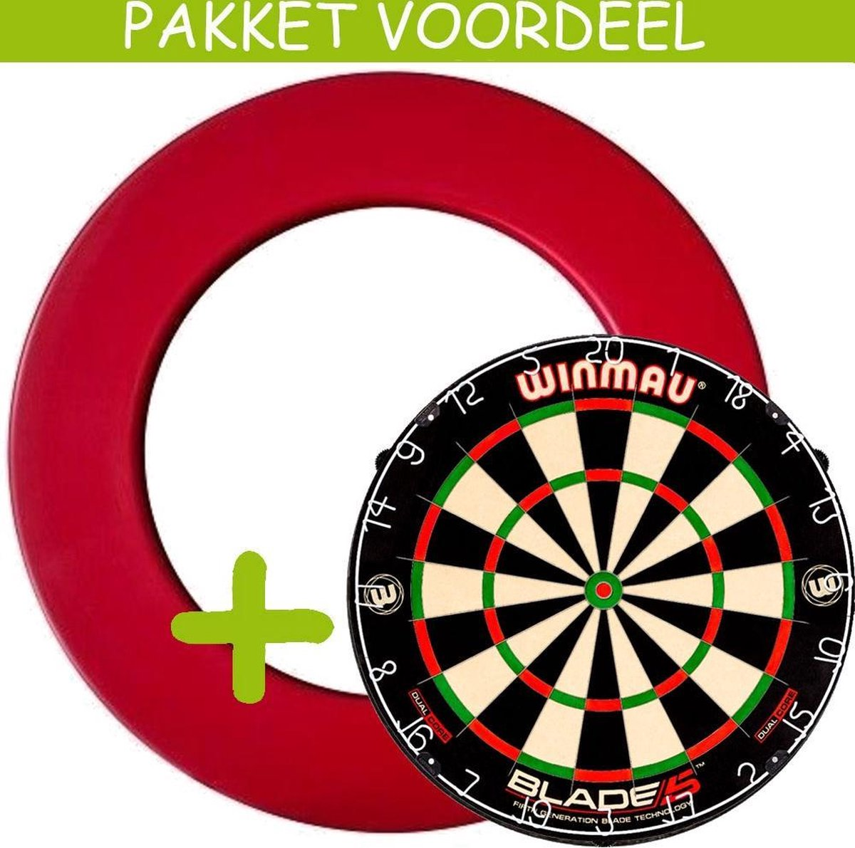 Dartbord Surround VoordeelPakket - Dual Core - Rubberen Surround-- (Rood)
