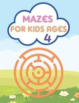Mazes For Kids Ages 4: Mazes Puzzles book for kids