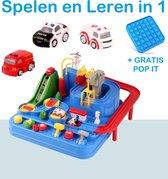 PLAY IT Speelgoed Auto Racebaan Inclusief POP IT Fidget Toys