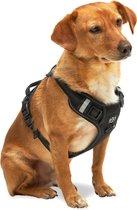 Hondentuigje - Anti-Trek Tuig - Hondenharnas - Reflecterend - Zwart - Maat S