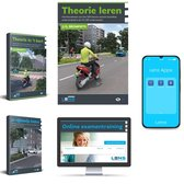 Scootertheorieboek 2021 met 50 Online Examens en Samenvatting + Theorieboek Scooter Compleet pakket met Apps + Je Rijbewijs AM Halen 2021 - Lens Media