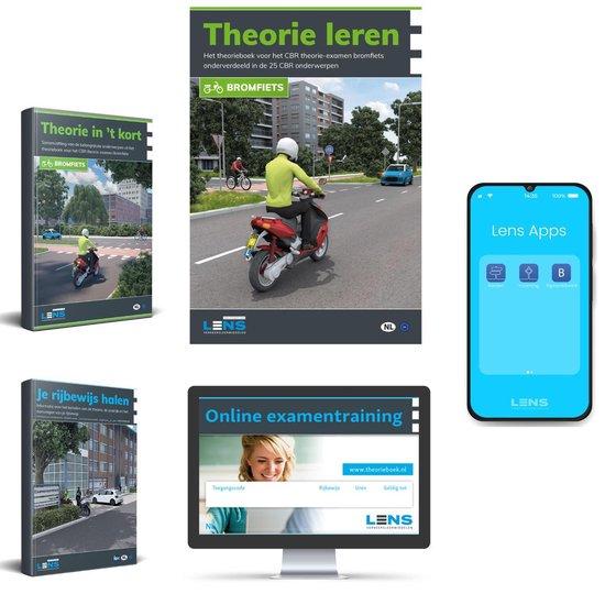 Boek cover Brommer Theorieboek + 50 Online Examens + Samenvatting + Apps + CBR Je Rijbewijs AM Halen 2021 van Lens Verkeersleermiddelen (Onbekend)