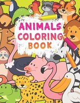 Animals Coloring Book: 100 Animals for Toddler Coloring Book: Easy and Fun Educational Coloring Pages of Animals for Little Kids Age 3-5, 5-8