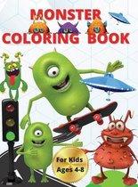 Monster Color Book For Kids 4-8