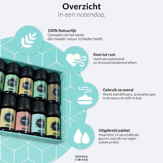 Etherische Oliën 14 stuks - 100% puur en natuurlijk - Geschikt voor Aroma diffuser- Essentiële olie set