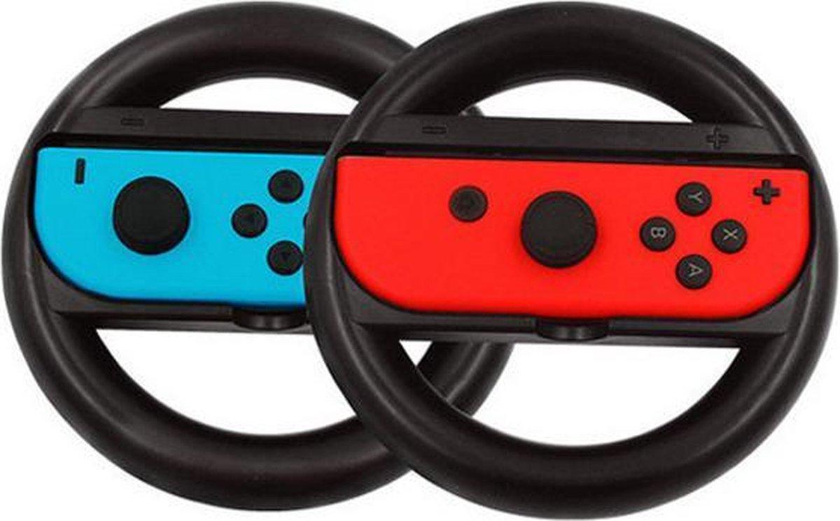 Switch stuur voor Joy-Con - 2 stuks - Zwart - Nintendo Switch Accessoires - Geschikt voor Nintendo S