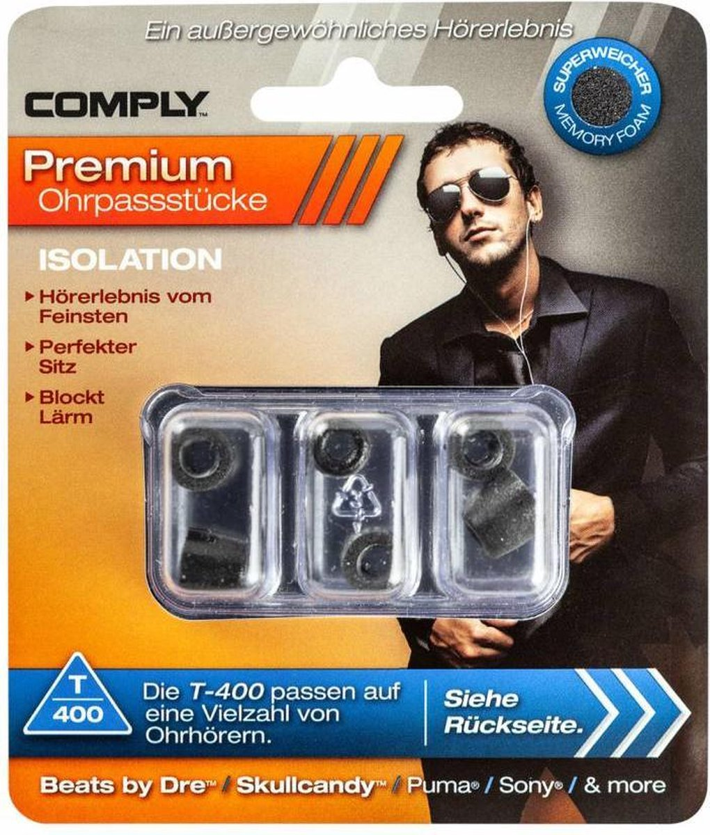 Comply T-400 ear phone tips (Isolation)- Large