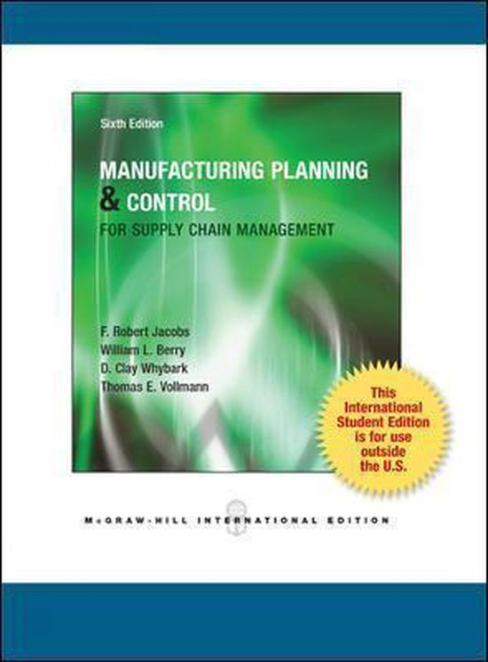 Boek cover Manufacturing Planning and Control for Supply Chain Management van F. Robert Jacobs (Paperback)